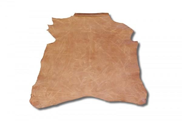 Ziegen - Futterleder (mittelbraun lackiert / 1,0 - 1,2 mm) 0,52 m²