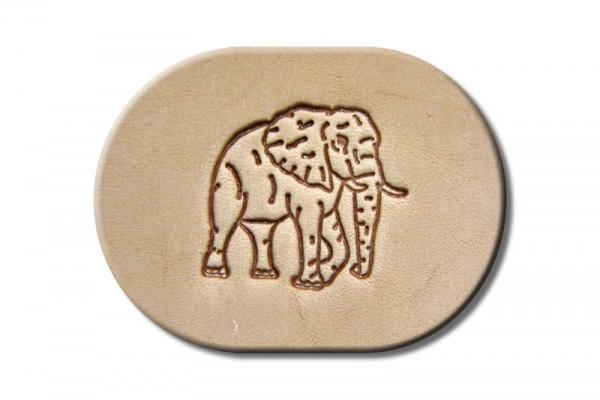 "Punzieraufsatz / Lederstempel ""Elefant rechts"""