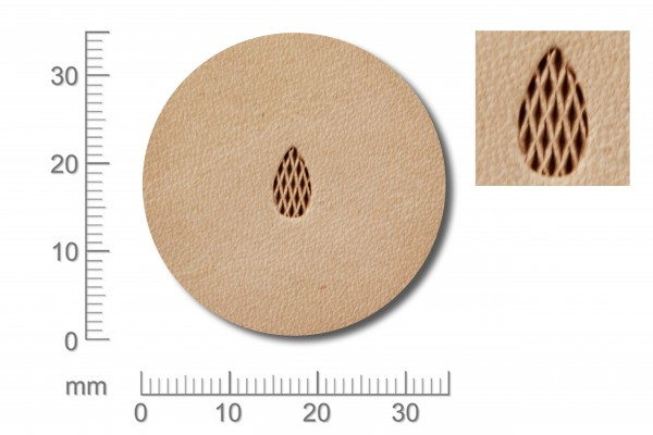 Punziereisen / Prägewerkzeug / Lederstempel A118 ( T-02 )