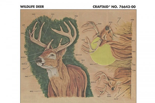 "Craftaid / Schablone ""Wildlife - Hirsch"""
