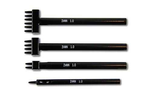 Reihenlocheisen / Braidingstempel Ø 1 mm