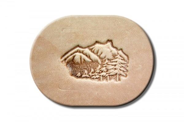 "Punzieraufsatz / Lederstempel ""Landschaft Berge"""