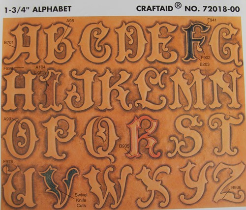 """Craftaid / Schablone """"1-3/4"""""""" Alphabet (Großbuchstaben)"""