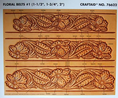 """Craftaid / Schablone """"Floral Belts #1"""""""