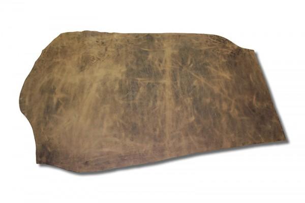 Wasserbüffel Croupon / Geschirrleder natur-rustikal (3,0 - 3,5 mm) 1,02 m²