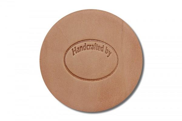 """Punzieraufsatz / Lederstempel """"Handcrafted by 2"""""""