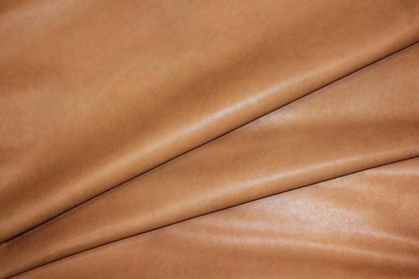 Ziegen - Futterleder Nappa (Cognac / 1,0 - 1,2 mm) 0,43 m²