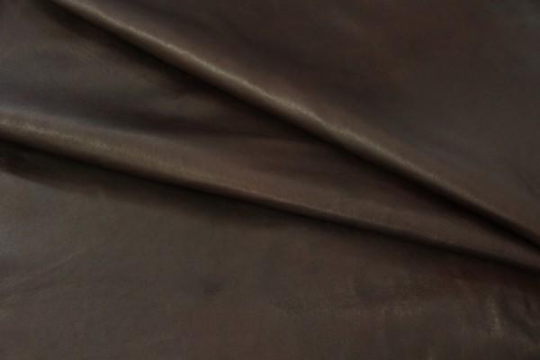 Ziegen - Futterleder (dunkelbraun / 1,0 - 1,2 mm) 0,64 m²
