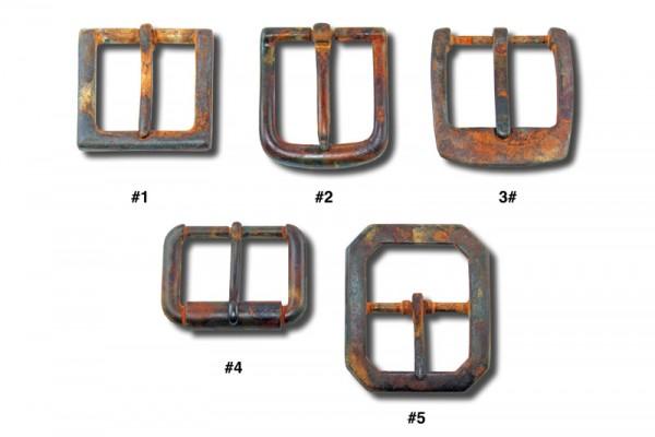 """Gürtelschnallen im """"Rusty Metal Look"""""""