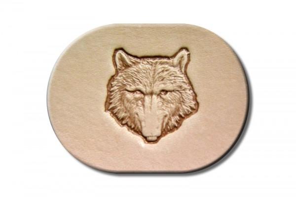 """Punzieraufsatz / Lederstempel """"Wolf Kopf"""""""