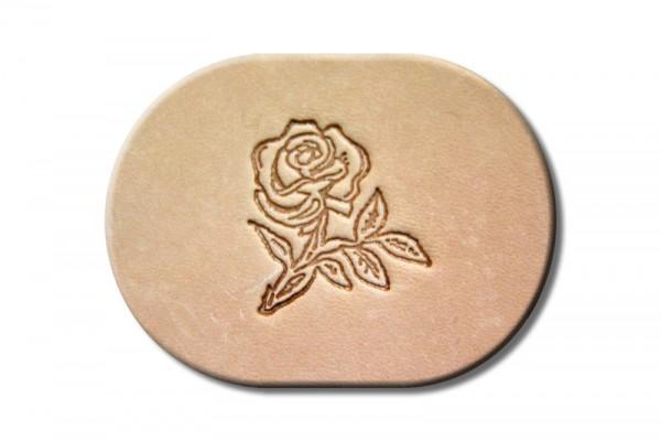 """Punzieraufsatz / Lederstempel """"Rose I"""""""