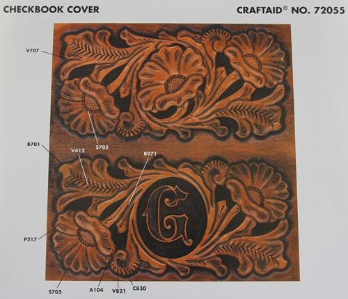 """Craftaid / Schablone """"checkbook cover"""""""